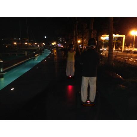 Balade nocturne de la ville de Papeete en Segway