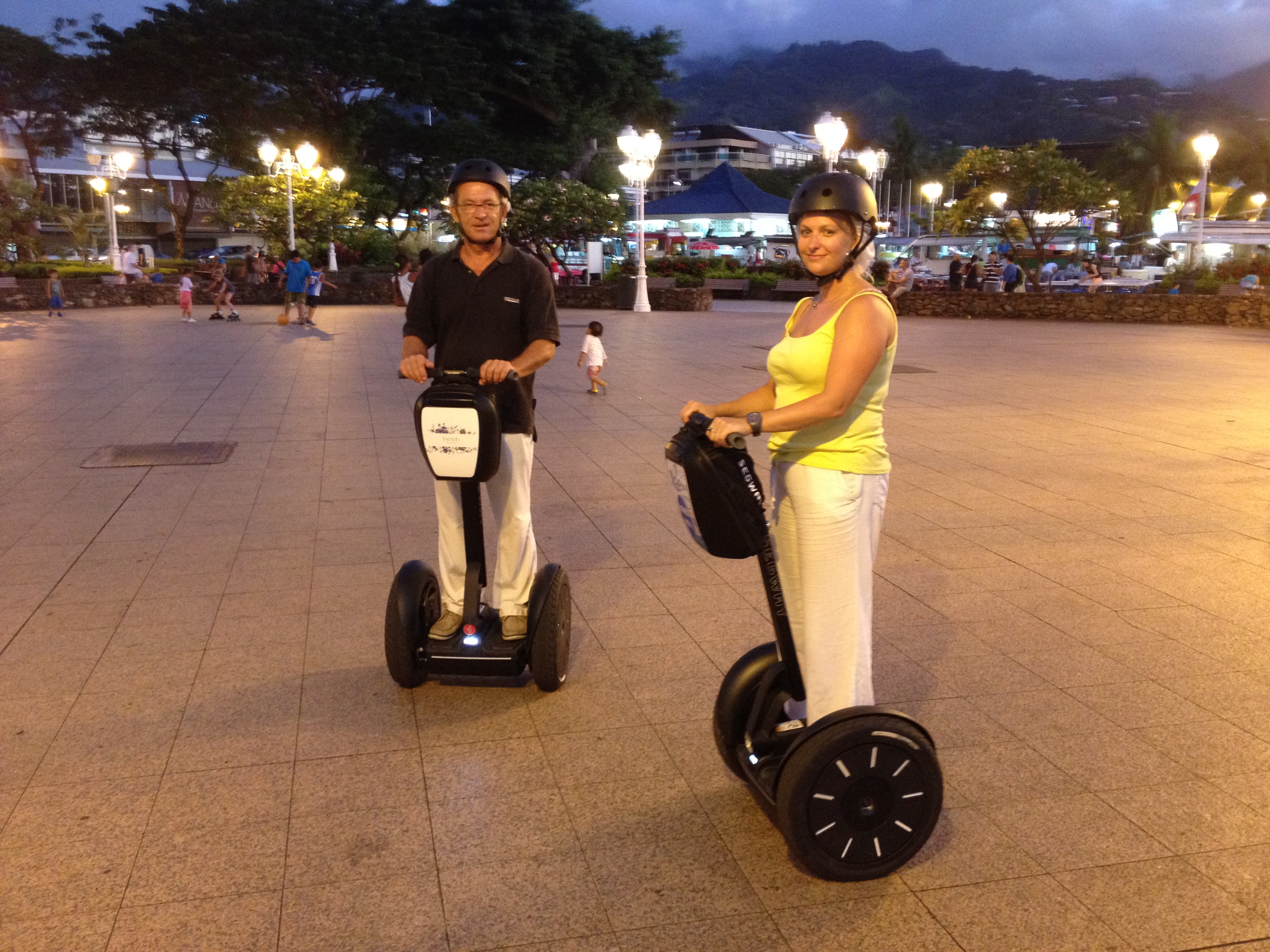 Papeete by night with Segway PT