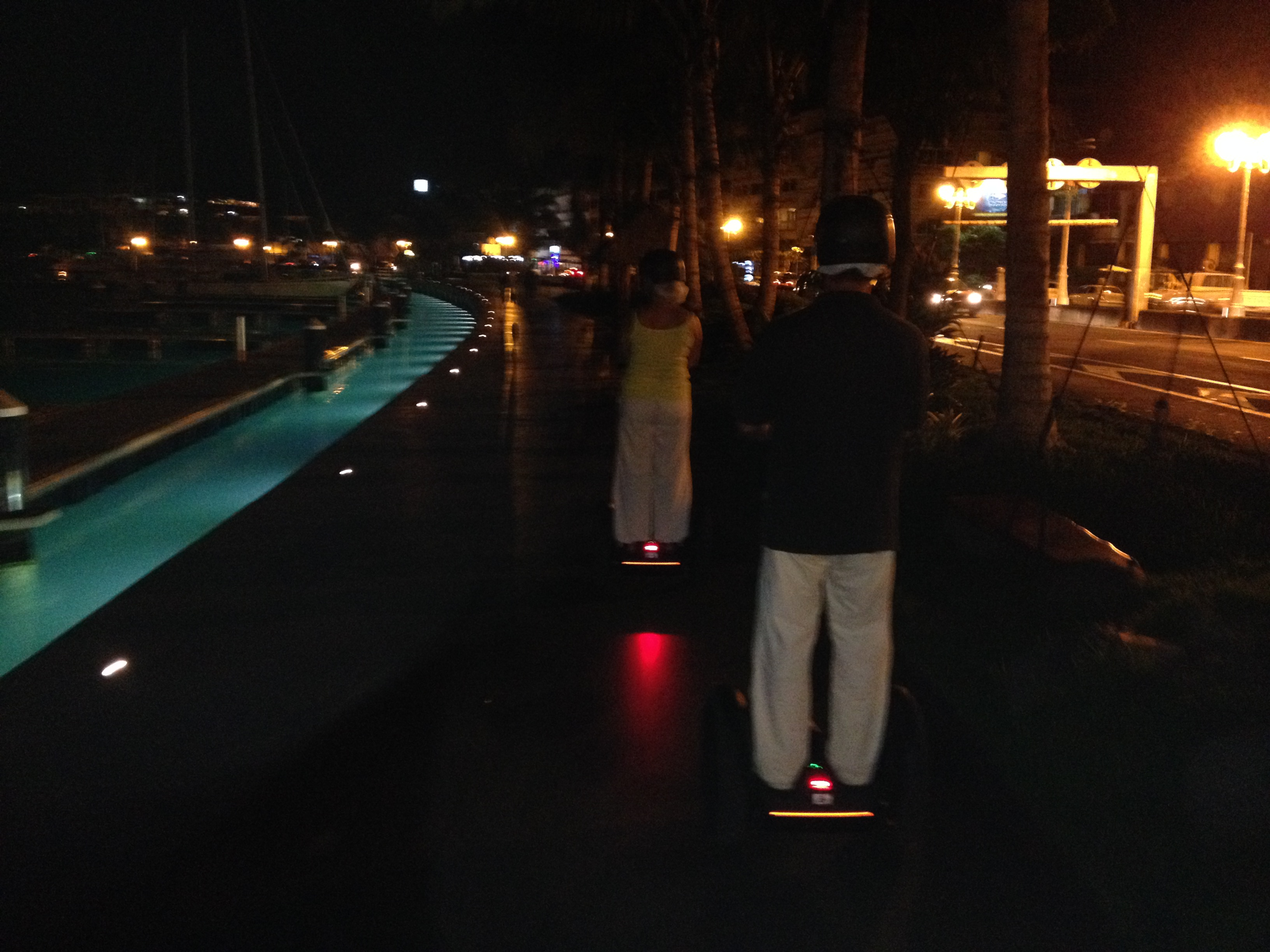 Papeete by night with Segway