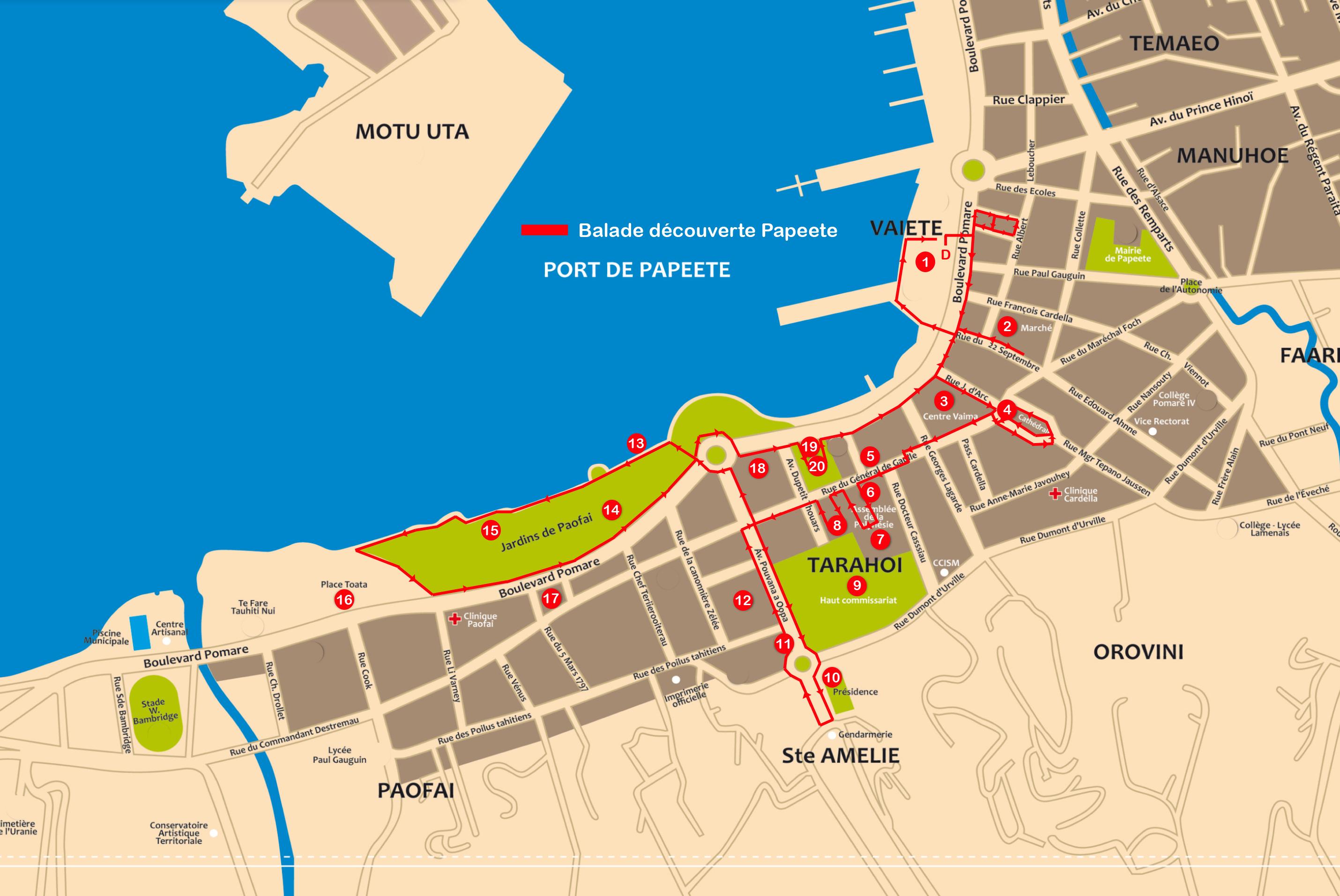 Plan balade découverte de Papeete en Segway