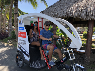 Electric Tuk-Tuk tour Tahiti