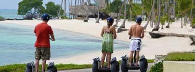 Segway Polynésie à Tahiti sur le lagon
